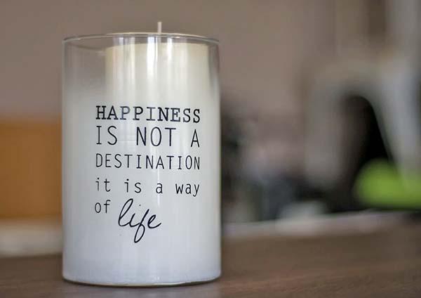 Glücklich sein ist eine Lebenseinstellung